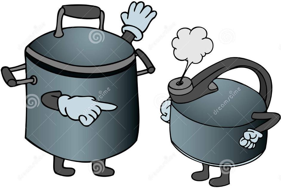 pot 和 kettle 有什麼不同?